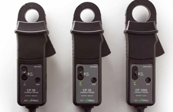 Amp probes used for monitoring circuit current.