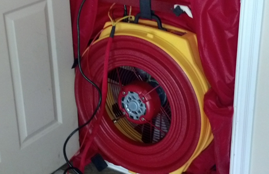 Picture of a blower door used in inspections.