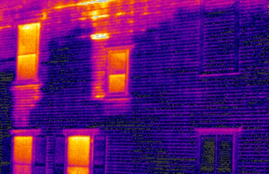Thermal image of house inspection.