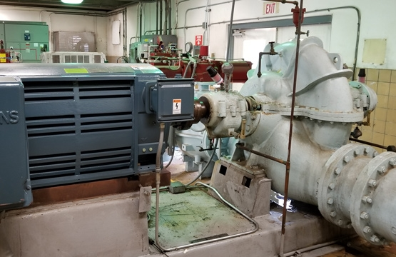 Large industrial motor.